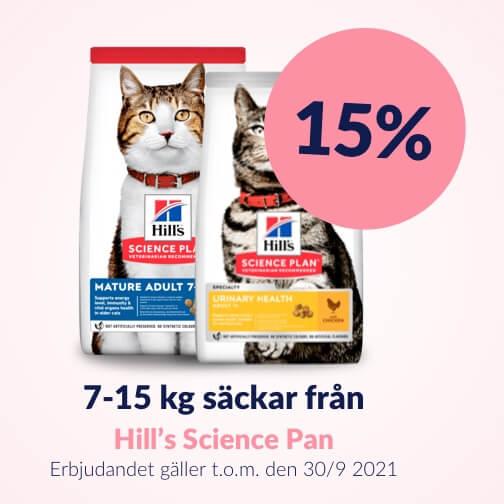 15 % rabatt på Hill's Big Bag Cats