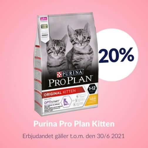 20 % rabatt på Purina Pro Plan Kitten