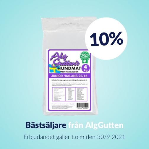 10 % rabatt på AlgGutten Foder