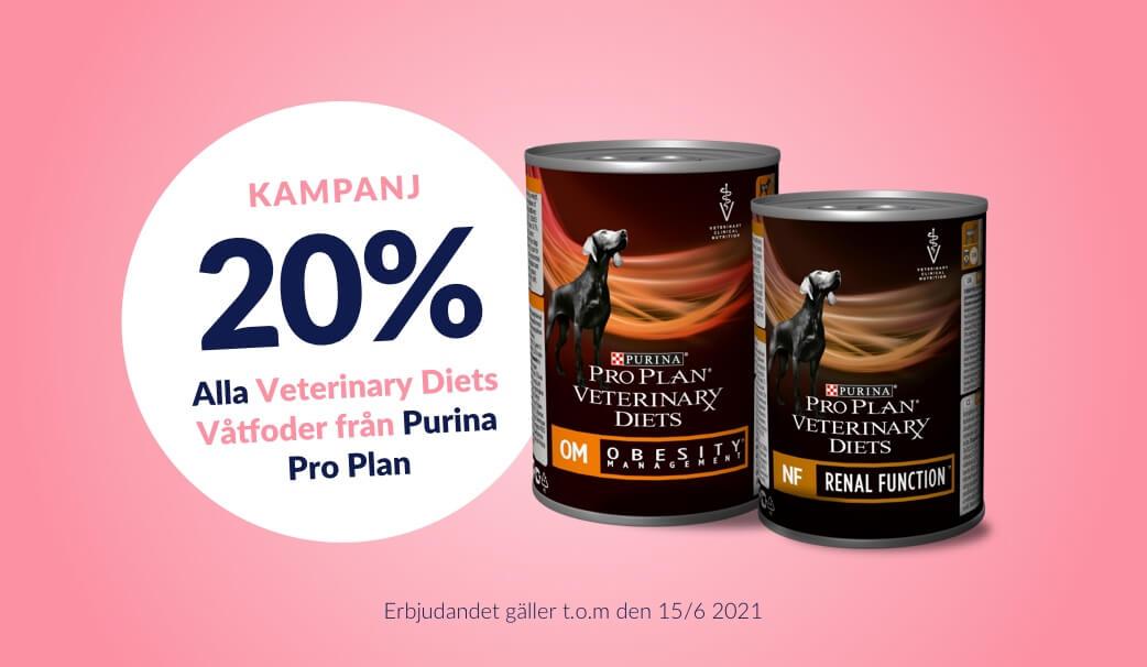 20 % rabatt på Purina Veterinary Diets Våtfoder