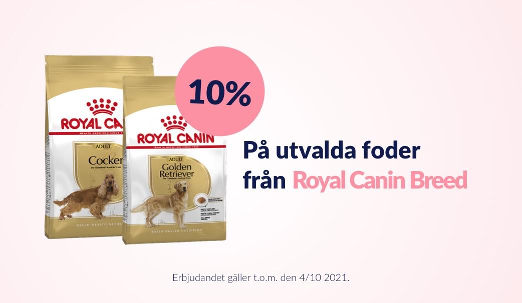 10 % rabatt på Royal Canin Breed