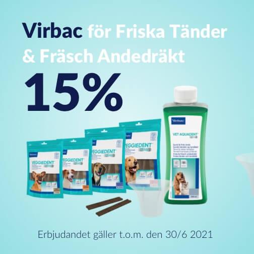 15 % rabatt på Virbac Vårdprodukter och Tuggben